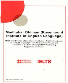 Rosemounts Cetificate 3 British council