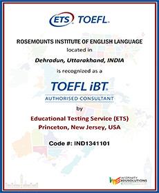 Rosemounts Cetificate 5 TOEFL IBT